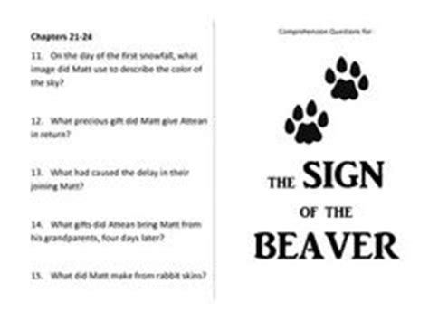 Sign of the beaver literature guide, 5th8th grade jpg 236x182